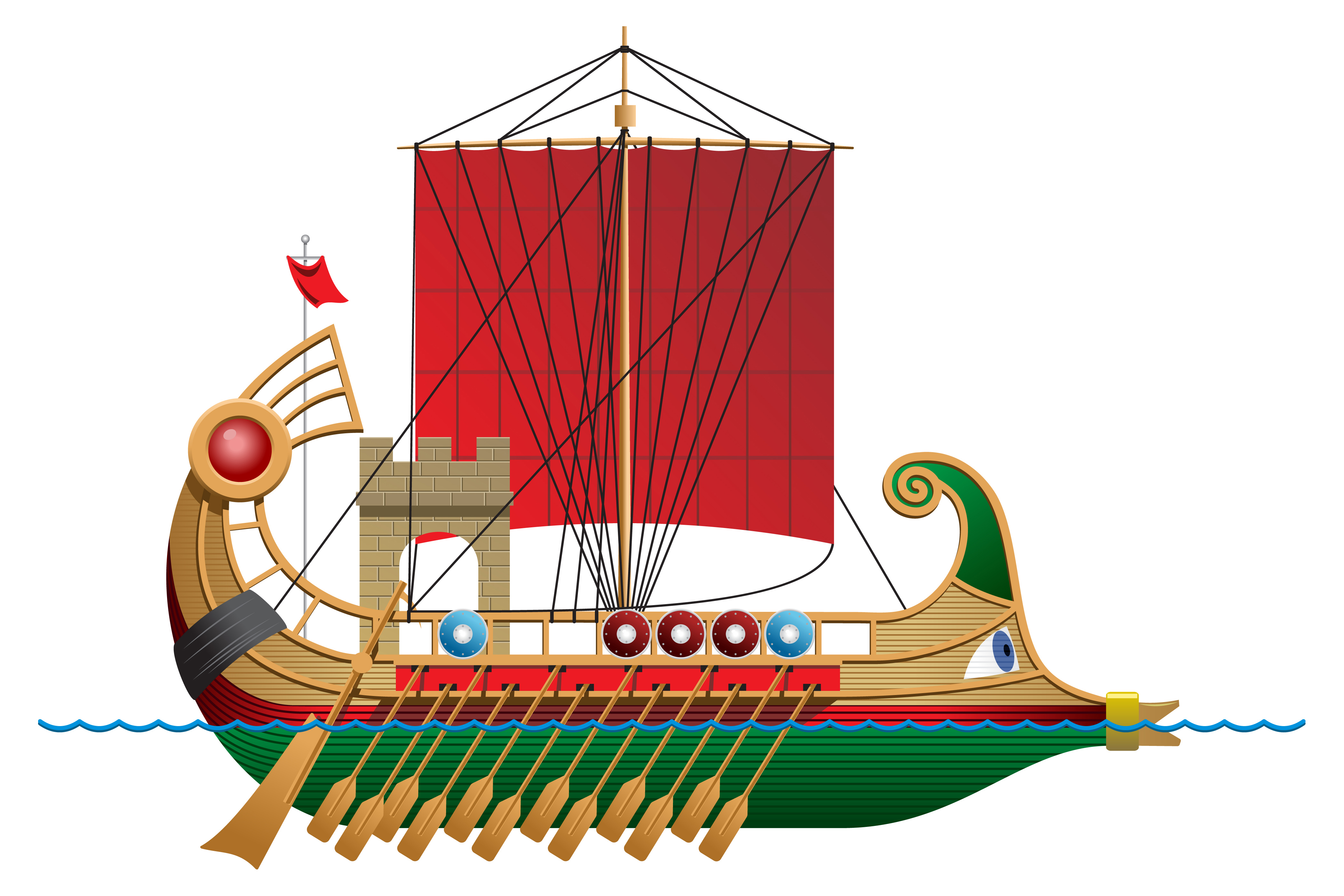 Ancient Roman Galley depicting the Rostrum