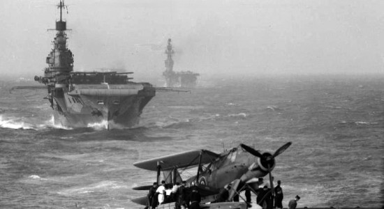 Seen from the flight deck of HMS Victorious