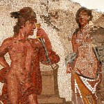 The Romans used Greek myths in their mosaics as symbols of civilization