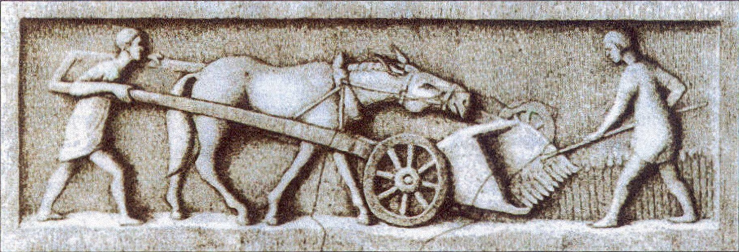A gallic-roman harvester : WikiPedia