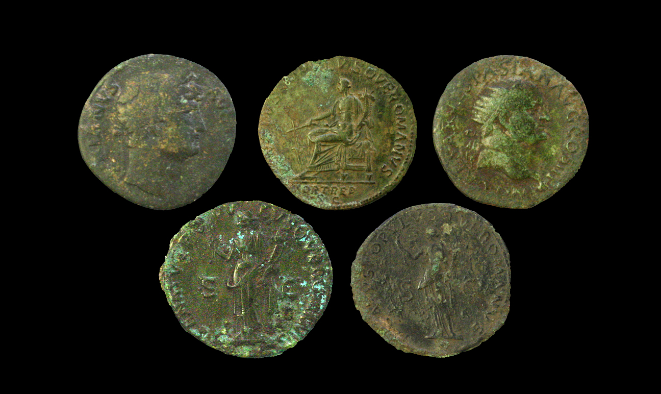 Roman coins from Blackfriars in Leicester - Credit : Wardell Armstrong Archaeology