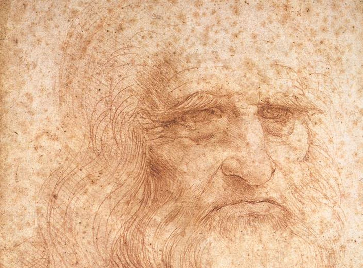This is Leonardo da Vinci's self-portrait as acquired during diagnostic studies carried out at the Central Institute for the Restoration of Archival and Library Heritage in Rome, Italy. Credit: M. C. Misiti/Central Institute for the Restoration of Archival and Library Heritage, Rome