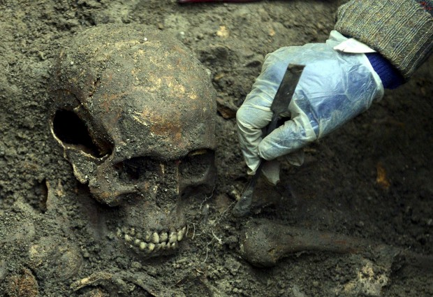 Analysis of centuries-old skeletons in mass grave 'inconclusive'