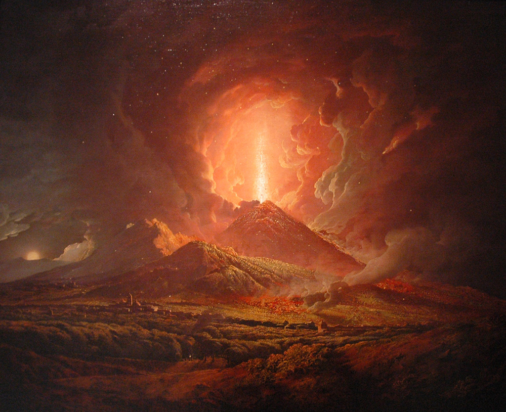 Artist representation of Mount Vesuvius: WikiPedia